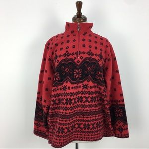 NWT Coldwater Creek Red Snowflake Sweater
